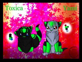 Yami and toxica kittens reff by Ymia-the-cheetah