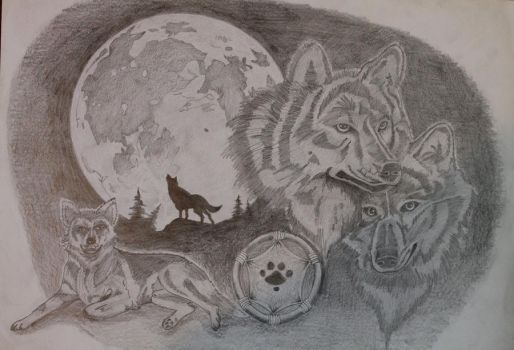 Wolves Montage by Knight-of-olde