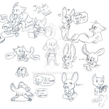Judy and Nick doodles by Amare-Fide