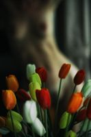 Self art with flowers by Ultradevious