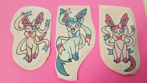 Sylveon Stickers by Kainaa