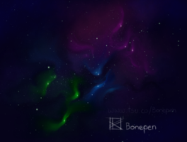 Colorful Space by BonePenArt