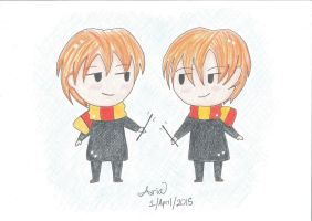 Happy Birthday to Fred and George Weasley! by Sailor-Aria