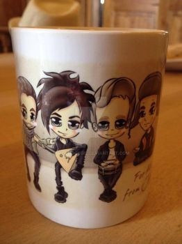 One of the mugs for The Rasmus guys by WooHooGirl