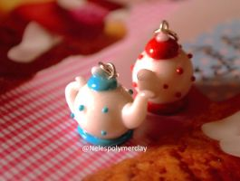 Tea time polymer clay by Nelespolymerclay