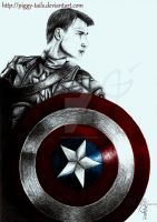 Captain America Sketch by piggy-tails