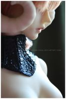 Shoppe : Black Leather Gorget by Nezumi-chuu