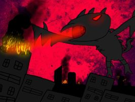 Terror the dragon by MegaDISASTER