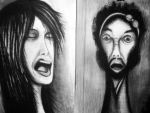 charcoal portraits by psychopathic-jad