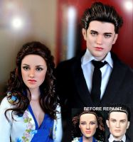 Twilight dolls Bella n Edward by noeling