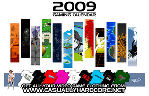 2009 Video Game Calendar by TigarUK