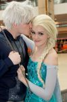 Jack Frost and Elsa Cosplay by starryeyedq