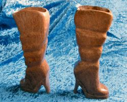 Ladies Pink Silky Oak Boots by tablelander