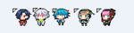 Free to Use: DRAMAtical Murder Cursors by tsunyandere