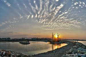 Sunrise at Manavgat by Haban
