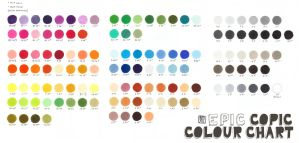 Epic Copic Colour Chart by Wolf-Suit