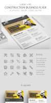 Construction Business Flyer Template PSD by survivorcz