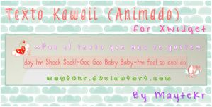 Texto Kawaii (animado) for XWidget by MayteKr