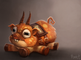 DAY 117. Monsters University Pig (30 Minutes) by Cryptid-Creations
