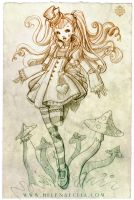 Alice in Wonderland Sketch - Daily challenge No4 by Ecija