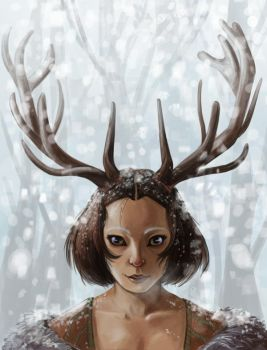 Stag Woman: Finished by ladymadeofglass