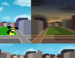Unused City Background by hlavco