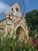 flowered church by kather