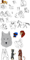 Huge Sketch dump by BearlyFeline