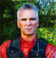 Jack O'Neill - Stargate SG-1 - Watercolor1 by riverfox1
