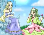 princess snow diamond and princess rose pearl by GredellElle