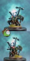 Ork Big Mek with Force Field by HomeOfCadaver