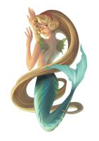 Blonde Mermaid by ShandyRp