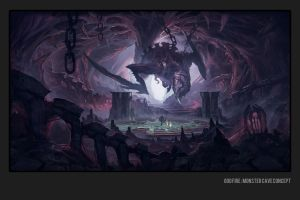 God Fire - Monster Cave concept by Matchack