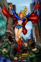 Supergirl Saves The Day by mspawa