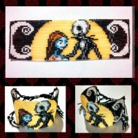 Jack and Sally Bracelet by ravenarcana