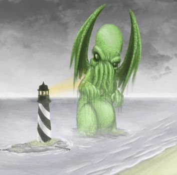 Cthulhu vs Lighthouse by Ryzie42