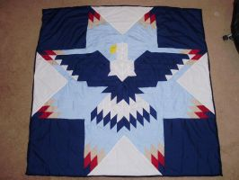 Lonestar Eagle Quilt by supermutts