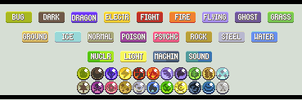 Fakemon Type Icons: Revamp by KuroBlanc