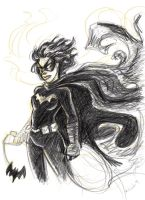 Blackbat Sketch by msciuto