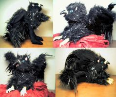 Black Griffin Plush by stephanielynn