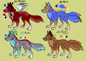 SPEZIAL WOLF Adoptables 20 POINTS ++OPEN++ by White-wolfeh