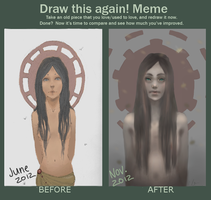 Improvement Meme: 5 months by Marmaladde