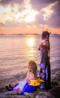 FFX-- Peaceful Sunset by Aquarina12