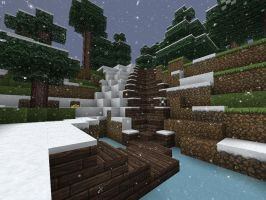 Minecraft Hunter's Wooden Cabin Staircase by lilgamerboy14