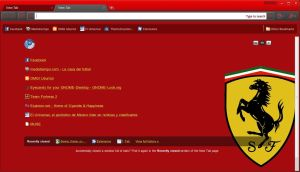 Ferrari theme for Chrome by TooPredictable