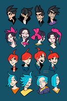 OC hair explorations by oxboxer