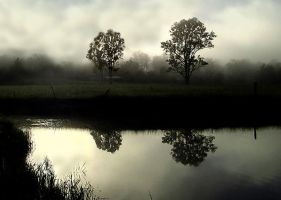 Misty Morning Reflection by xjames7