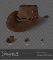 Cowboy hat icons design by gaovsmiao