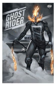 Ghost Rider Print by toonfed