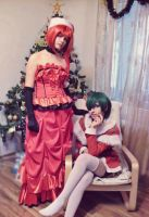 Madam Red and Ciel X-Mas by SakuraCherry7